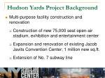 hudson yards project background