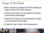 scope of our study