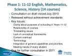 phase 1 11 12 english mathematics science history 14 courses