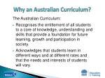 why an australian curriculum5