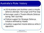 australia s role history