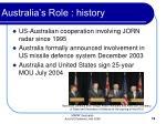 australia s role history19