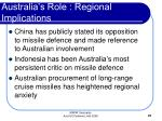 australia s role regional implications