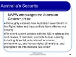 australia s security