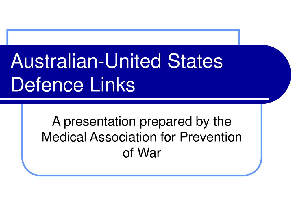 australian united states defence links l.