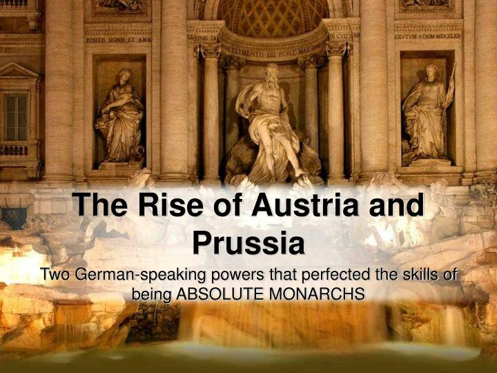 the rise of austria and prussia n.