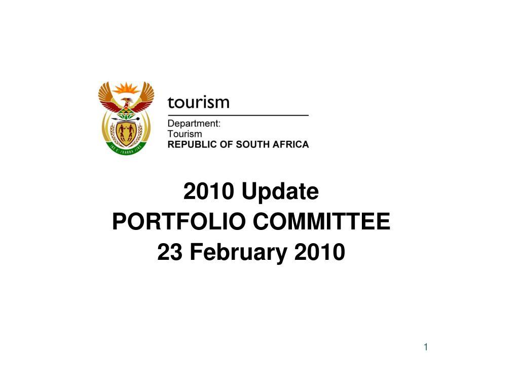 2010 update portfolio committee 23 february 2010 l.