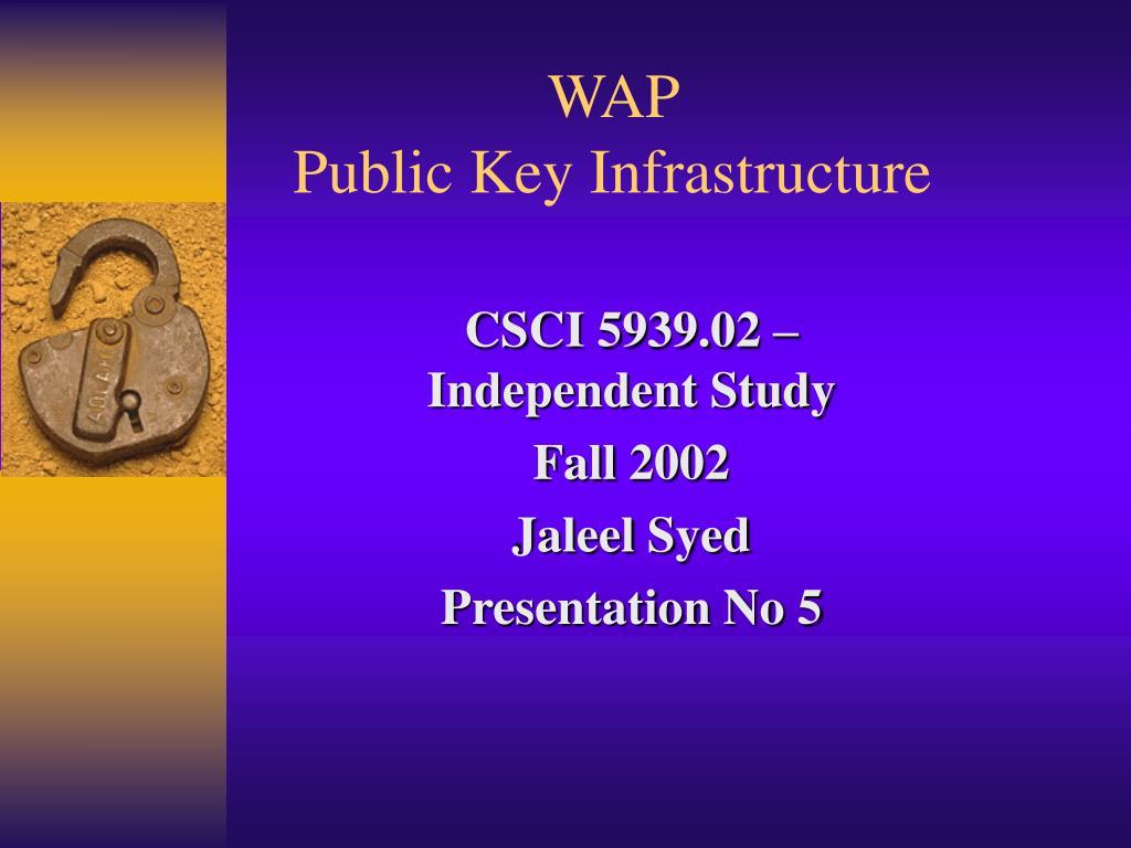 wap public key infrastructure l.