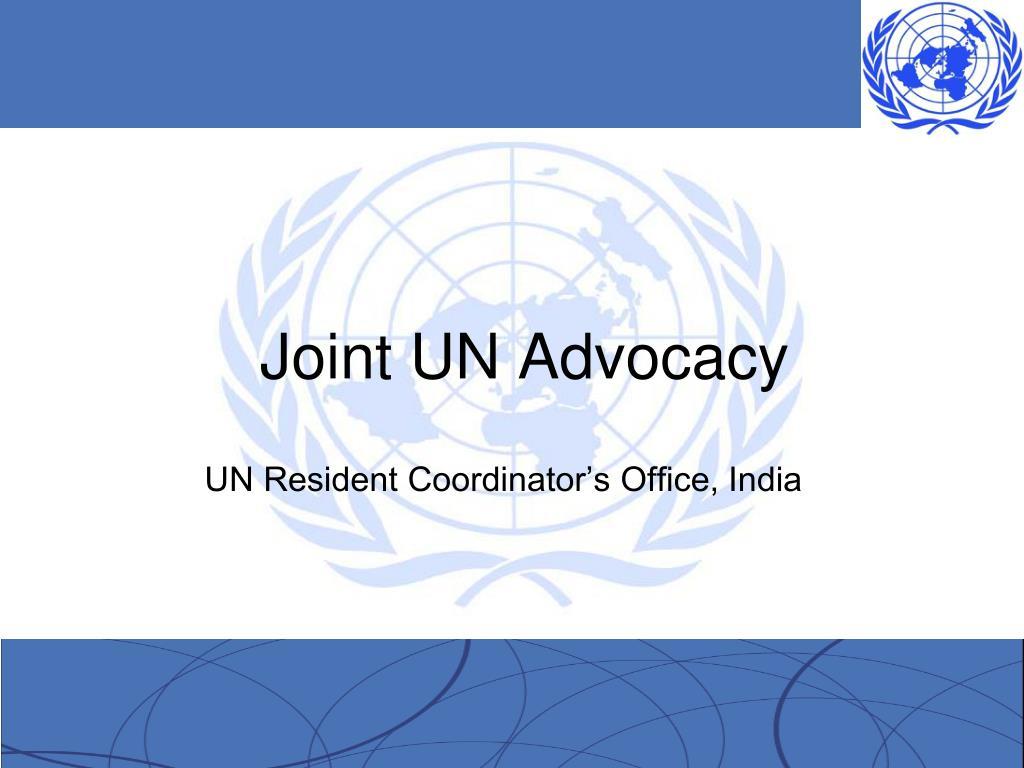 joint un advocacy l.