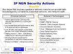 ip ngn security actions monitor