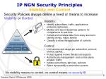 ip ngn security principles visibility and control