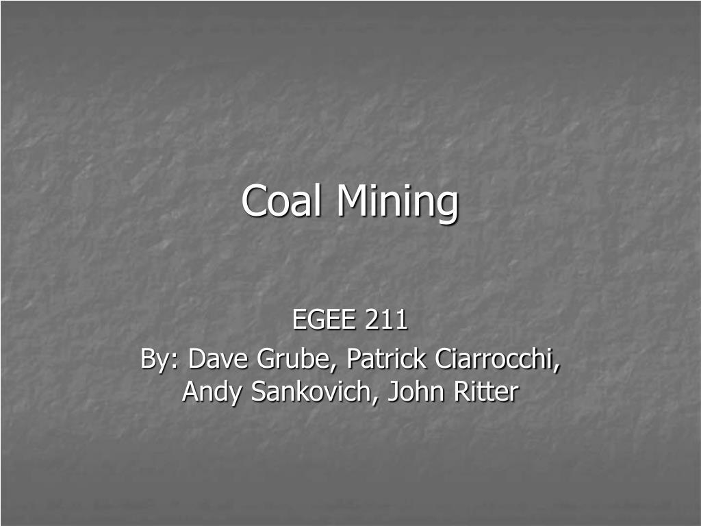 coal mining l.
