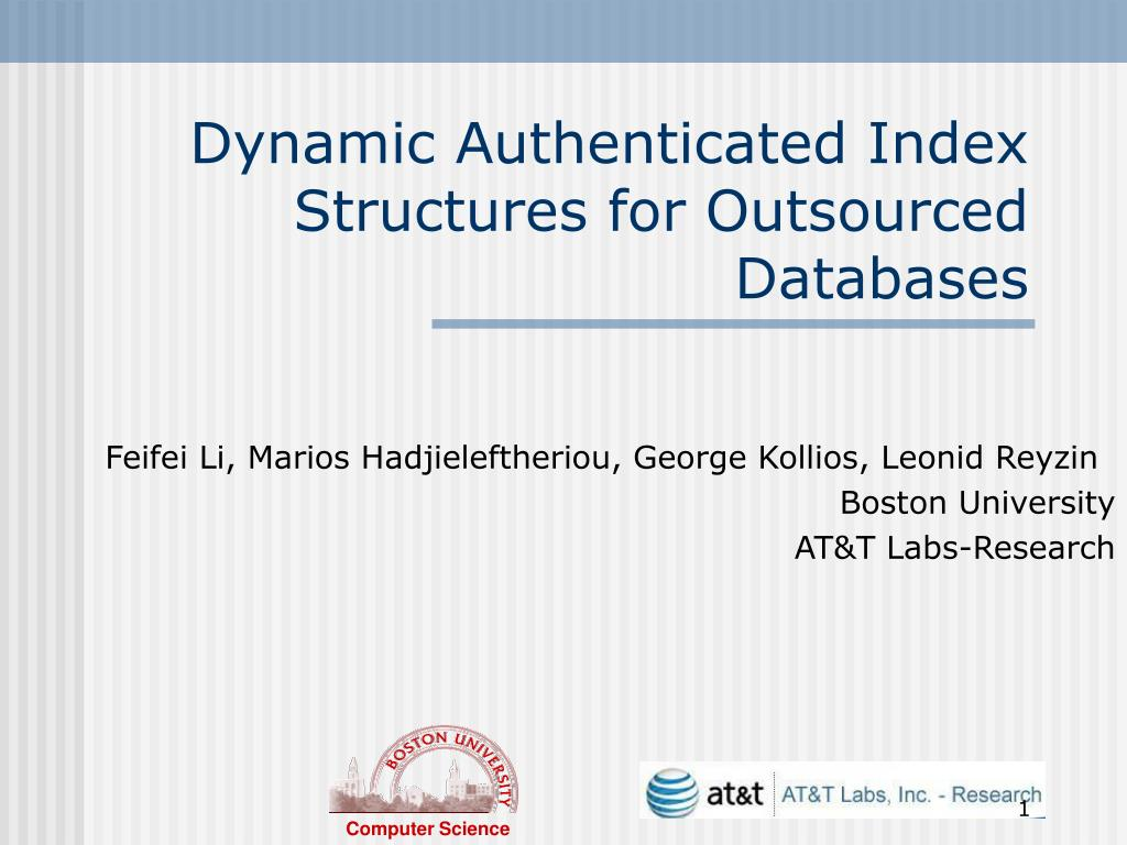 dynamic authenticated index structures for outsourced databases l.