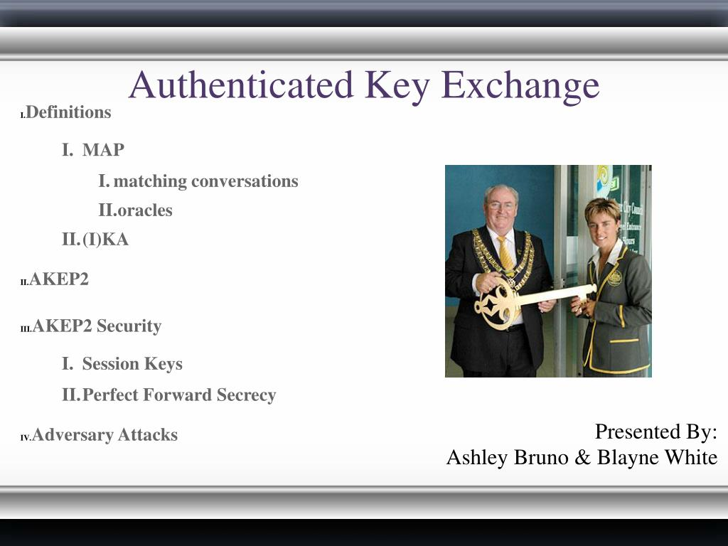 authenticated key exchange l.