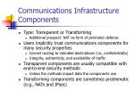 communications infrastructure components