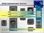 wsso authentication sources