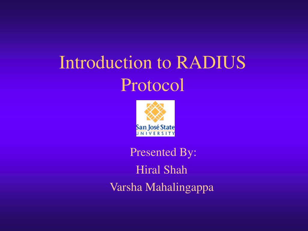 introduction to radius protocol l.