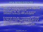rfa persistente