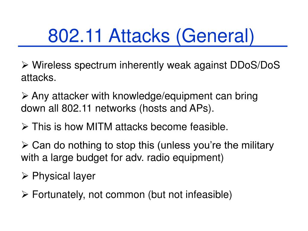 802.11 Attacks (General)