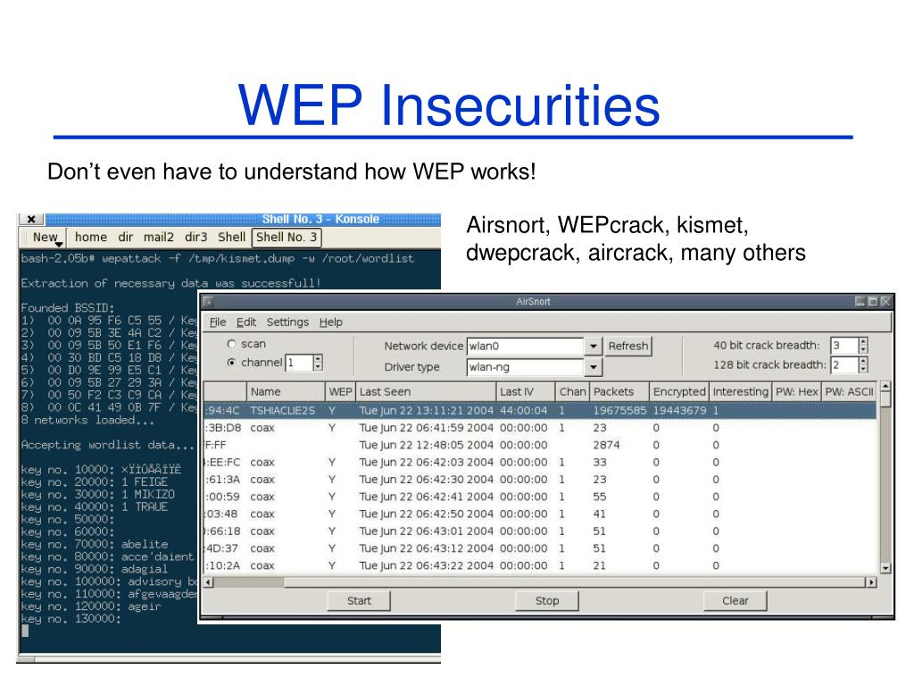 WEP Insecurities
