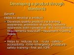developing a product through standards