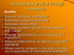 developing a product through standards11