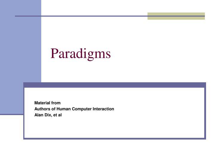 paradigms n.