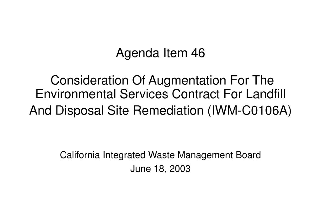 california integrated waste management board june 18 2003 l.