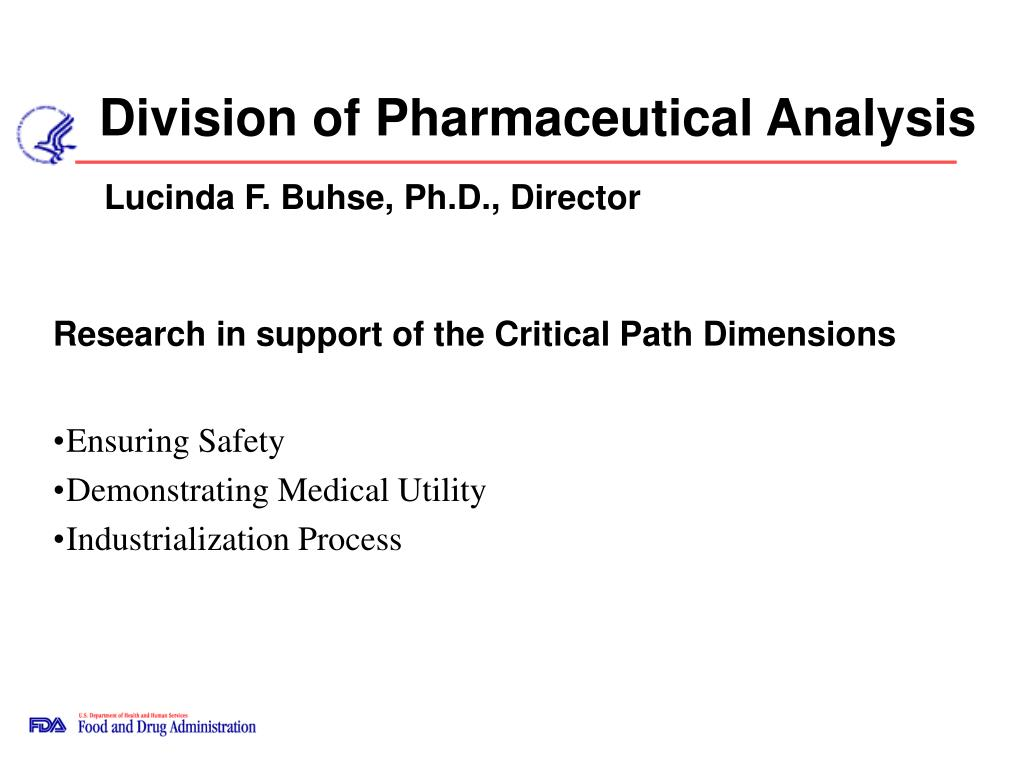 division of pharmaceutical analysis l.