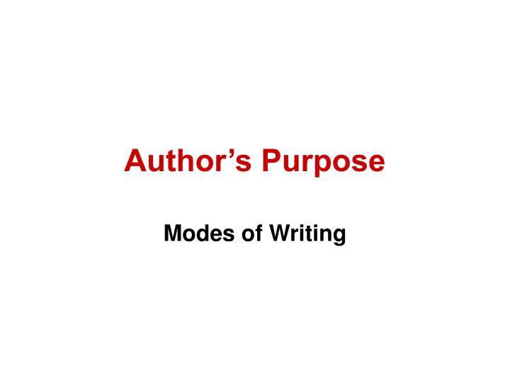 author s purpose n.