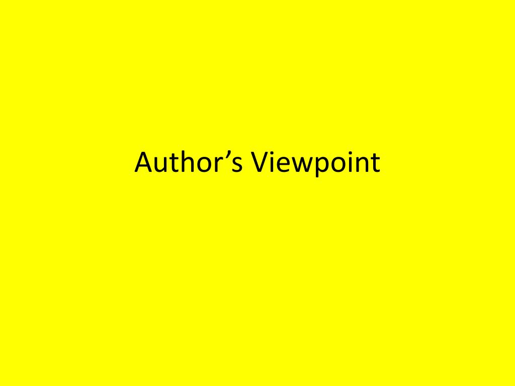 author s viewpoint l.