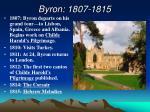 byron 1807 1815