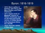 byron 1816 1819