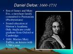 daniel defoe 1660 1731