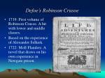 defoe s robinson crusoe