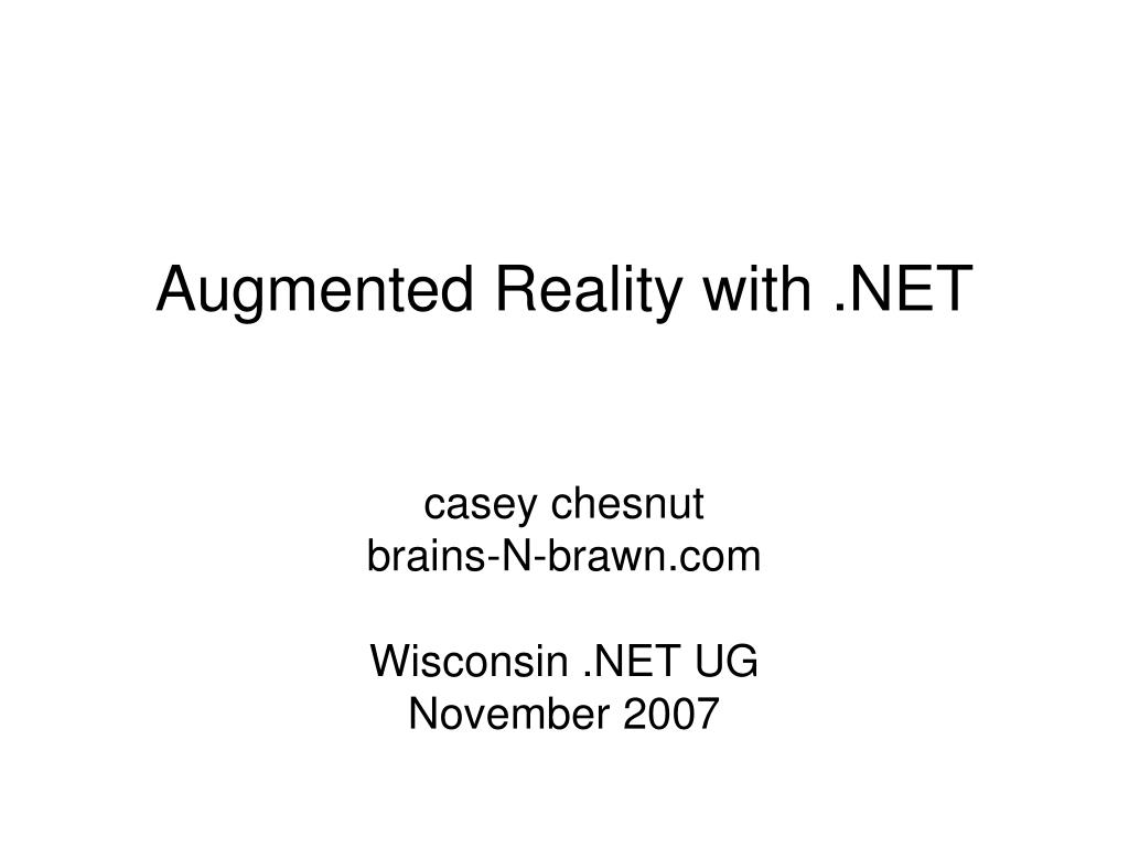 augmented reality with net l.