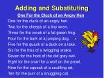 adding and substituting