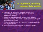 5 authentic learning requires intervention