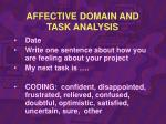 affective domain and task analysis