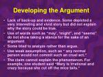 developing the argument32