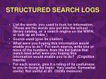 structured search logs