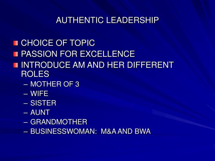 authentic leadership n.
