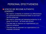 personal efectiveness