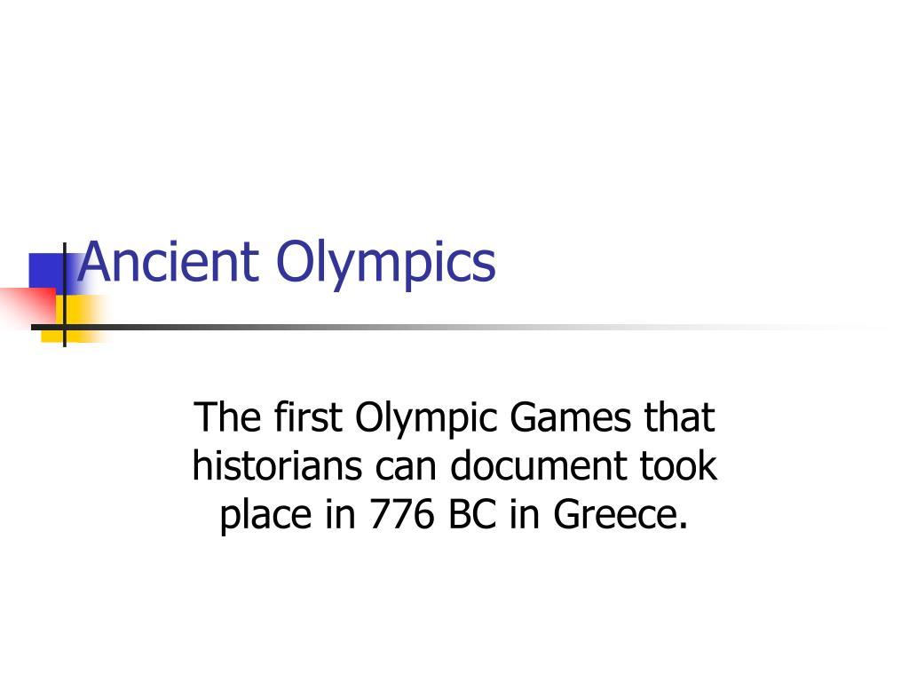 ancient olympics l.