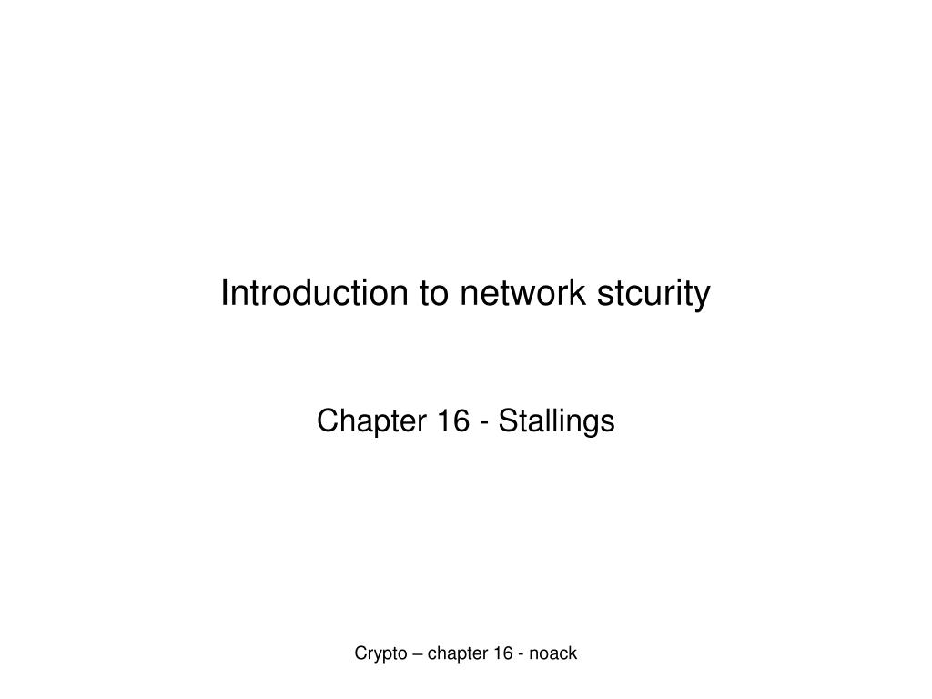 introduction to network stcurity l.
