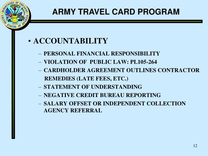 Credit Bureau Phone Number Customer Service >> PPT - ARMY TRAVEL CARD PROGRAM PowerPoint Presentation - ID:181022