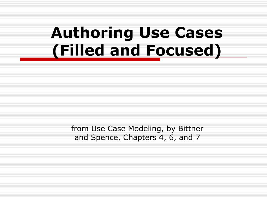 authoring use cases filled and focused l.