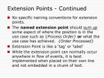 extension points continued