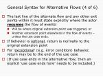 general syntax for alternative flows 4 of 6