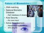 future of biometrics